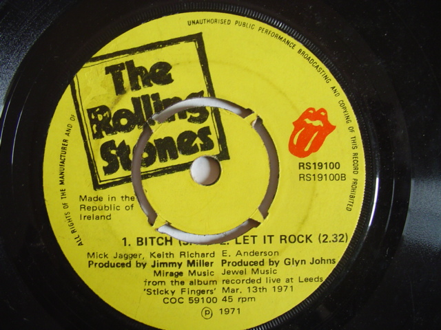 ROLLING STONES - BROWN SUGAR - IRISH PRESS